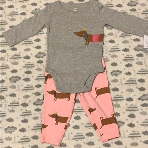Baby girl Carter's 2 piece set